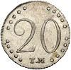 20 копеек 1787 г. ТМ. Таврические монеты (Екатерина II)
