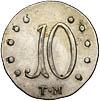 10 копеек 1787 г. ТМ. Таврические монеты (Екатерина II)
