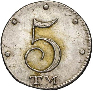 5 копеек 1787 г. ТМ. Таврические монеты (Екатерина II).